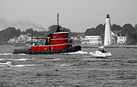 Tug Boat at New London Light, CT